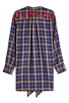 BALENCIAGA PRINTED SHIRT WITH TIE. #balenciaga #cloth #