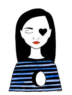 Instagram: my_moody_my #ink #inkillustration #inkpainting #illustration #drawing #sketch #doodle #illustrationart #woman  #blackink #red