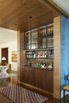 Colorful home bar design small ideas. #colorfulhomebardesign