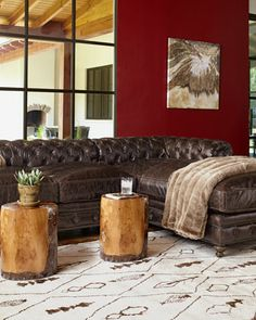 """Warner"" Sectional Sofa - Neiman Marcus 6299.00 down seat cushions...need I say more? Sink in!"