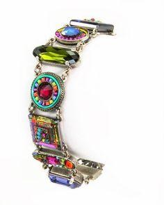 Firefly Jewelry Bracelet With Multicolored Swarovski Crystals Handcrafted in Guatemala  Price : $249.00 http://www.natashasworldjewelry.com/Firefly-Multicolored-Swarovski-Handcrafted-Guatemala/dp/B00ADA9X4Q