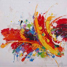 Schilderij kleur explosie accessoires to finish pinterest ps - Kleur schilderij ingang ...