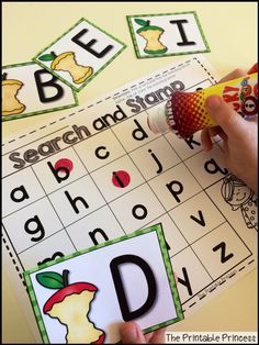 Perfect introduction to letters! Pick a card, find the matching letter on your paper and dab it. Match uppercase to uppercase or uppercase to lowercase.