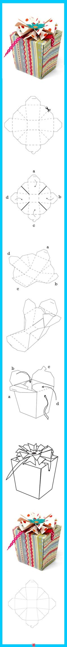 The shape is like a parcel or present, this could work like giving a gift to another person, or a gift to yourself.
