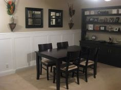 Frugal Home Ideas: Big impact - Small budget. Faux Wainscoting