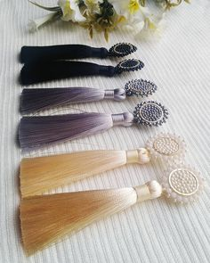 Tassel earrings.