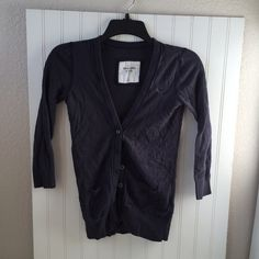 Abercrombie cardigan Navy blue cardigan. In very good condition. Non smoking home Abercrombie & Fitch Sweaters Cardigans