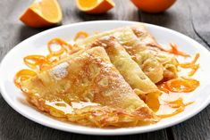 Make Easy Crepes Suzette for Breakfast, Brunch or Dessert Breakfast Dessert, Breakfast Recipes, Dessert Recipes, Desserts, Pancake Recipes, Pancake Ideas, Cake Ingredients, Crepe Suzette Recipe, Desert Recipes