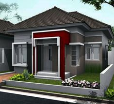 41 Simple Minimalist 1 Floor Model Homes -As we know that how to choose the latest home design models that we are always looking for buildin. Minimalist House Design, Minimalist Home, Modern House Design, Latest House Designs, Cool House Designs, Natural Interior, Bungalow House Design, One Story Homes, Interior Concept