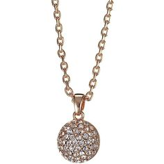 Rose gold crystal ball pendant necklace ($8.53) ❤ liked on Polyvore featuring jewelry, necklaces, rose gold jewelry, crystal ball jewelry, crystal ball pendant necklace, pink gold jewelry and jon richard jewellery