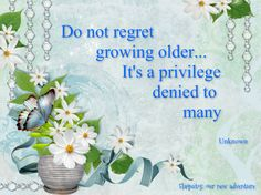 Do not regret...