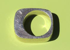 Hannelore Gabriel Sterling Silver Modernist Ring by ROCKETJEWEL
