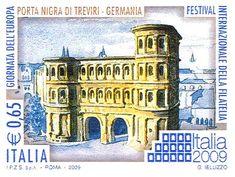 Italia 2009 - giornata dell'Europa - Porta Nigra di Treviri, Germania