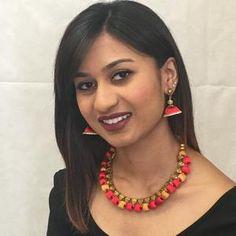 Handmade Silk Thread Necklace Set Silk Thread Necklace, Thread Jewellery, Long Tassel Earrings, Necklace Set, Silk Sarees, Jewelry Sets, Handmade, Color, Hand Made
