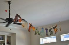 Recycle your old calendar into a banner