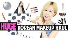 [한글자막] HUGE Collective Korean Makeup Haul, Review & Swatches | 한국 화장품 대빵...