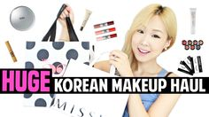 [한글자막] HUGE Collective Korean Makeup Haul, Review & Swatches | 한국 화장품 대빵...