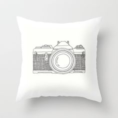 Vintage Camera 1.1 Throw Pillow by goodputty - $20.00
