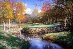 The 13th at Valhalla by Larry Dyke - Dyke is one of the most successful and acclaimed artists of his generation. He paints powerful landscapes inspired by his deep, personal belief in Christ and his frequent travels to domestic, international, and exotic locales.