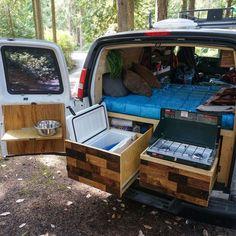 40 Ideas diy outdoor kitchen camper for 2019 Sprinter Camper, Camping Car Sprinter, Suv Camping, Camping Diy, Van Conversion Kitchen, Camper Van Conversion Diy, Van Conversion Layout, Truck Bed Camper, Camper Life