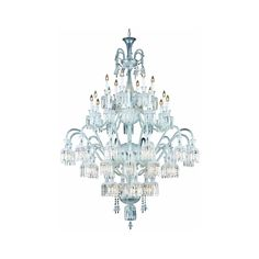 """Majestic 60"""" Crystal Foyer Pendant Chandelier with 48 Lights - Chrome Finish and Clear Crystal"""