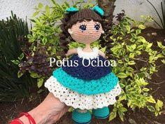 Como terminar muñeca Alexa amigurumi By Petus (6/6) ULTIMA PARTE - YouTube