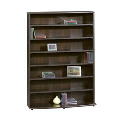Sauder Media Storage 7-shelf Bookcase (042666132510)
