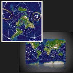 Written & Images Created by: Ashlee Webster – Ley line map I converted into the azimuthal equidistant flat earth map reveals a pattern similar to the seed of life &nbsp…