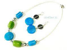 #Collar #Necklace #Pendientes #earrings www.facebook.com/atelier51.plasencia http://www.atelier51handmade.com/