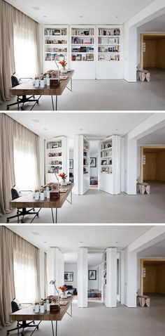 Trendy Home Library Decor Hidden Rooms Ideas Hidden Rooms, Trendy Home, Living Room Art, Lofts, Small Spaces, Open Spaces, Furniture Design, Office Furniture, Library Furniture