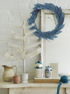 patterned paper wreath - good diy wreath for seasons besides the holidays