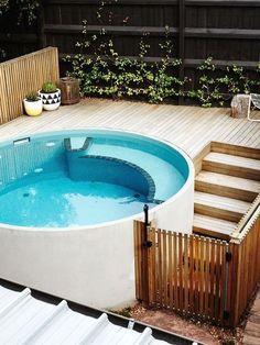 Les plus de base Contenant de la piscine. Amusant et facile souvenirs avec votre famille. Fret. #containerhome #...