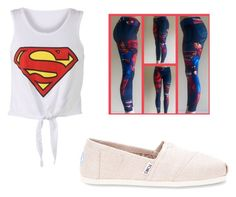 """superman"" by hadorrell on Polyvore featuring beauty, TOMS and superman"