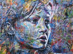 Mind Blowing Street Art By Famous David Walker - Female Portraits