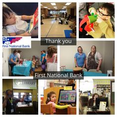 Another Summer Reading Club sponsorship thank-you goes to First National Bank. Thank you for helping to fund our children's programs, adult programs, and everything in between! #open4discovery