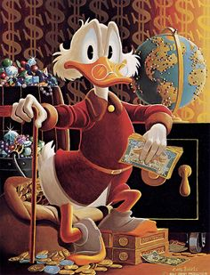 Uncle Scrooge McDuck: His Life & Times. Not Rosas work but Barks-stuff that probably inspired him to write and draw his uncle scrooge stories Walt Disney, Disney Duck, Disney Magic, Disney Mickey, Disney Art, Disney Movies, Mickey Mouse E Amigos, Mickey Mouse And Friends, Minnie Mouse