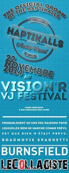 Haptikalls Flyer Web, le 22 novembre 2014 au Centre Mercoeur Paris 11é dans le cadre du Vision'R VJ Festival