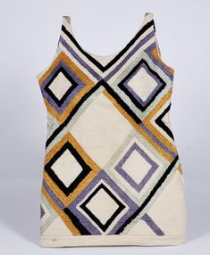 Bathing suit (tunic), 1924–25, silk embroidery on wool jersey, Musée de l'Impression sur Étoffes, Mulhouse