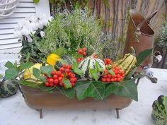 Vintage Blumentöpfe - vintage Kupfer Jardiniere Übertopf shabby chic - ein Designerstück von artdecoundso bei DaWanda