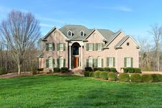 REDUCED! Elegant but comfortable, all brick, 5 BR, 5 BA home on 3.76+/- acres offers main level master suite, DR, great room, keeping room, breakfast room, butler's pantry, rec room with refreshment center, exercise room, media room, wine cellar, family room, study and an over-sized, temperature controlled, 3 car garage all in a gated neighborhood with pool, tennis courts, clubhouse, pond and barn.