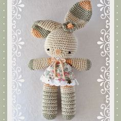 Mesmerizing Crochet an Amigurumi Rabbit Ideas. Lovely Crochet an Amigurumi Rabbit Ideas. Crochet Diy, Crochet Amigurumi, Easter Crochet, Amigurumi Doll, Crochet For Kids, Crochet Dolls, Crochet Toys Patterns, Amigurumi Patterns, Crochet Mignon