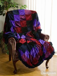 Velvet Dreams Quilt & Sham from Midnight Velvet® | Bedroom ... : velvet dreams quilt - Adamdwight.com
