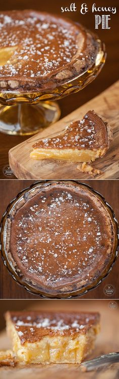 Salt and Honey Pie - It is the most rich, decadent, and downright delicious dessert that is perfect for the holidays.