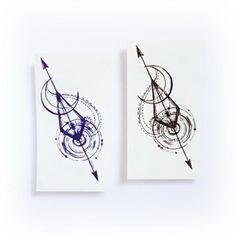 Arrow Spiral & Moon #HotTattoos