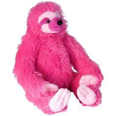 Wild Republic Pink Sloth Stuffed Animal