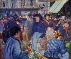 El Mercado en Gisors - Camille Pissarro