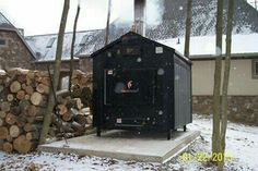 installing an outdoor wood burning furnace or outdoor wood boiler