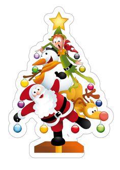 Centro de mesa papai noel - natal Christmas Crafts For Kids, Christmas Holidays, Christmas Cards, Merry Christmas, Xmas, Christmas Deserts, Christmas Cookies, Christmas Ornaments, Free Printable Cards