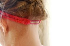 knitted headband with worsted weight yarn