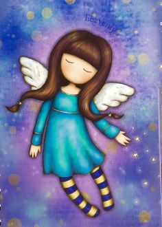 Cute Images, Cute Pictures, Santoro London, Plus Size Art, Angel Drawing, Doll Painting, Cute Cartoon Wallpapers, Fairy Dolls, Whimsical Art